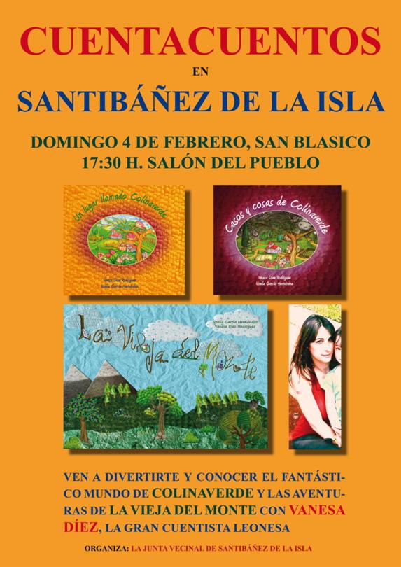 Cuentacuentos La vieja del monte y colinaverde en Santibáñez de la Isla