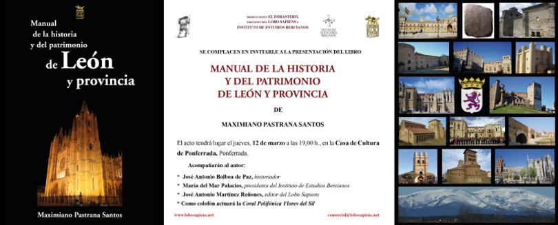 Presentación de Manual de la historia y del patrimonio de León y provincia en Ponferrada