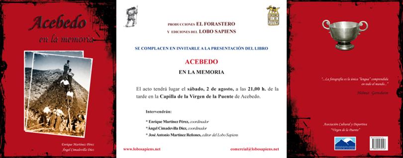 Presentación del libro ACEBEDO EN LA MEMORIA