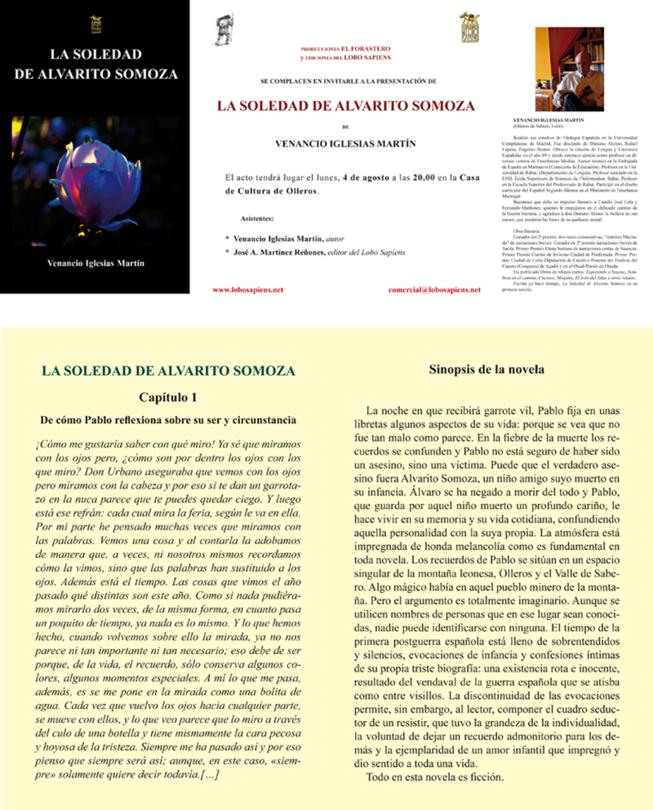 Presentación en Ollero de Sabero del libro La Soledad de Alvarito Somoza